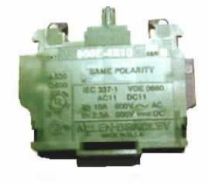 Contact Block,10A,600VAC;2.5A,600VDC,1NO