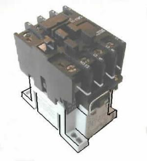 3 - Pole Contactor 120V, Coil w/ N.O. Aux. Contacts